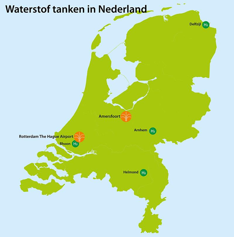 Waterstof tanken in Nederland