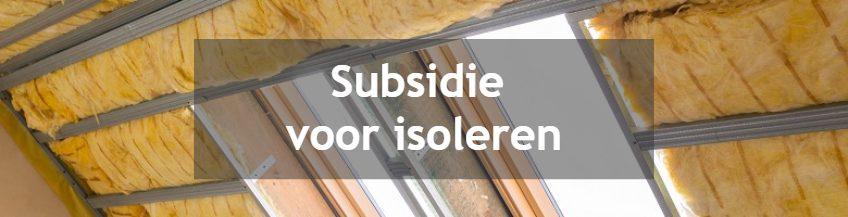 Subsidie voor isolatie